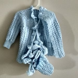 Baby Knitting Outer : Hat, Shoes and Mittens 20$